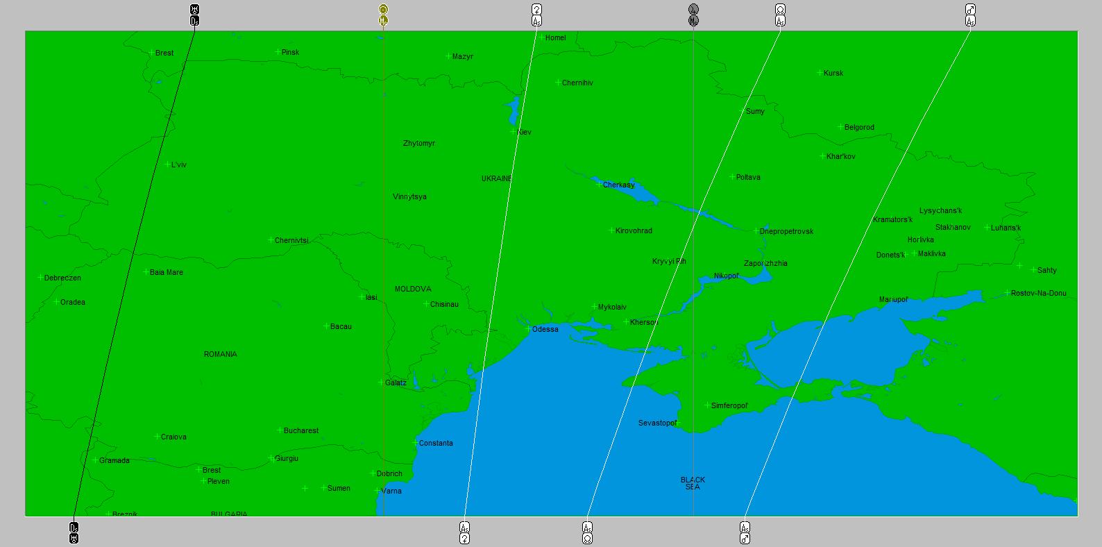astro chartography flight MH 17