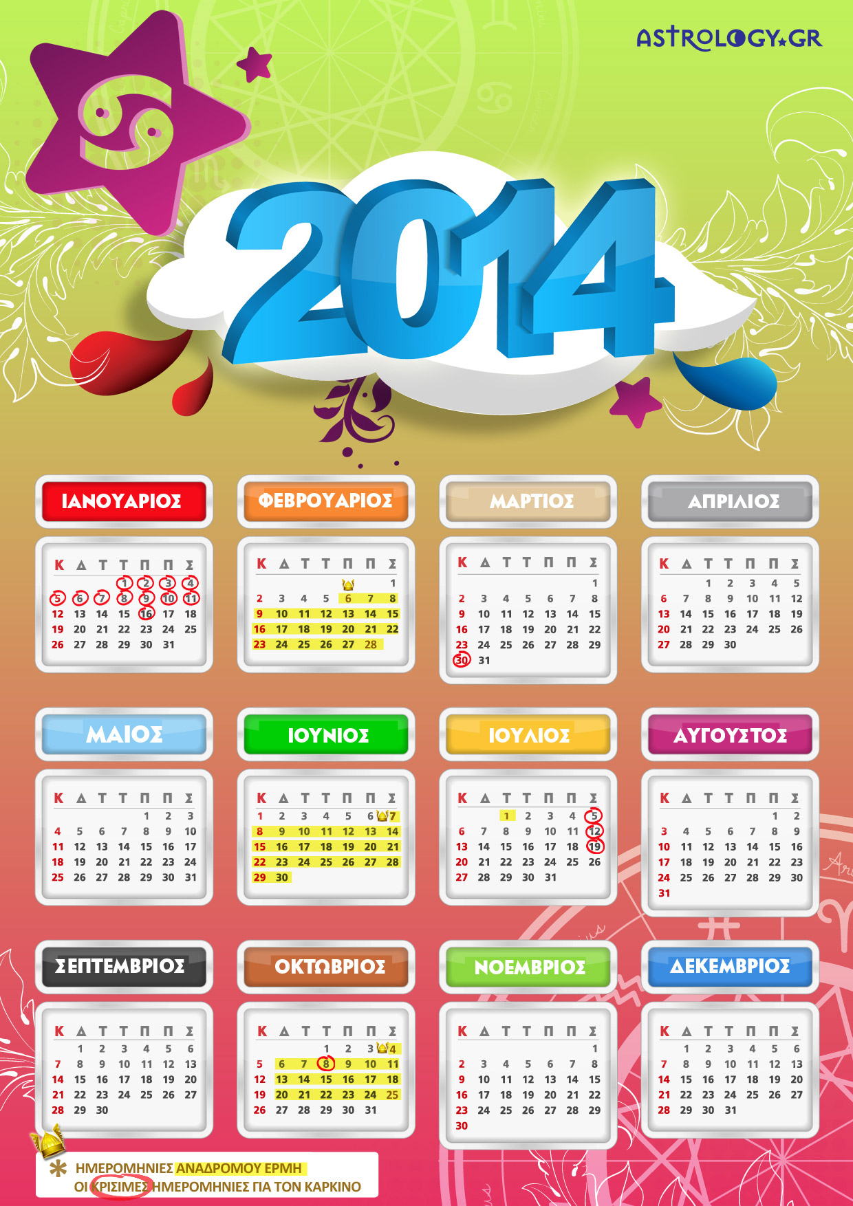 KARKINOS calendar14