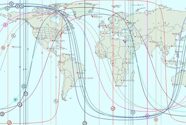 Αστροχαρτογραφία-Οι διασταυρούμενες γραμμές του Ήλιου