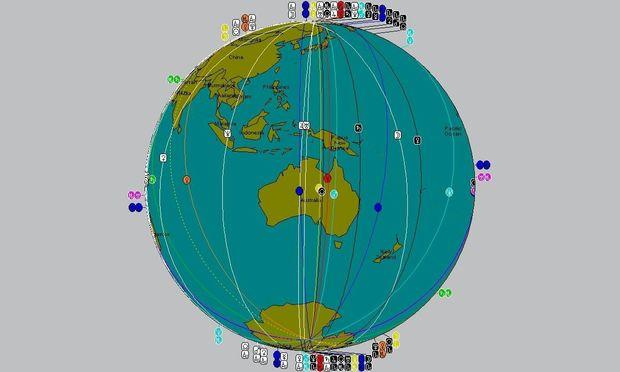 Αστροχαρτογραφία-Οι διασταυρούμενες γραμμές της Σελήνης