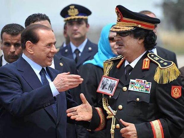 Μπερλουσκονι και Καντάφι. Δεν τα μαθες;
