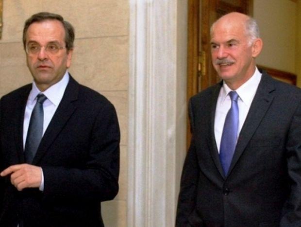 """Σαμαράς προς Παπανδρέου: """"Μεταβατική κυβέρνηση χωρίς εσένα πρωθυπουργό"""""""