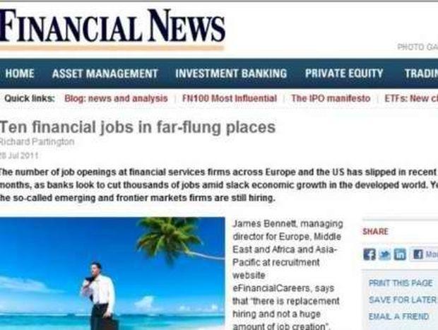 WSJ: Ψάχνετε για δουλειά;  Πηγαίνετε στο Μαρόκο, Σευχέλλες και Μπαχάμες
