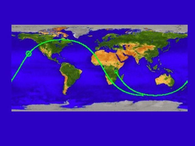 Αστρο-διάνα στον Ειρηνικό ο δορυφόρος!