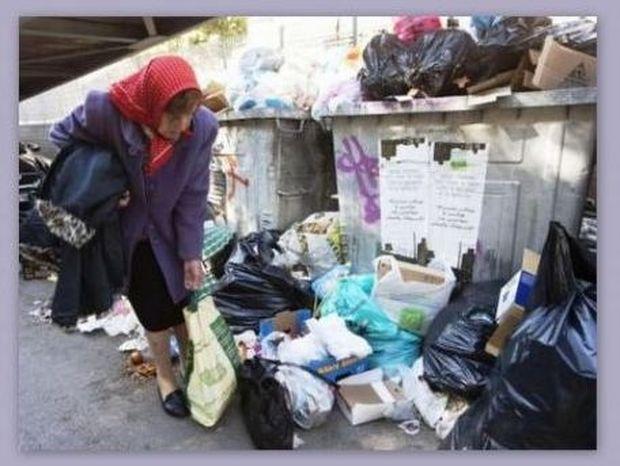 Η ξαδέρφη του Αριστοτέλη Ωνάση ψάχνει για φαγητό στα σκουπίδια!
