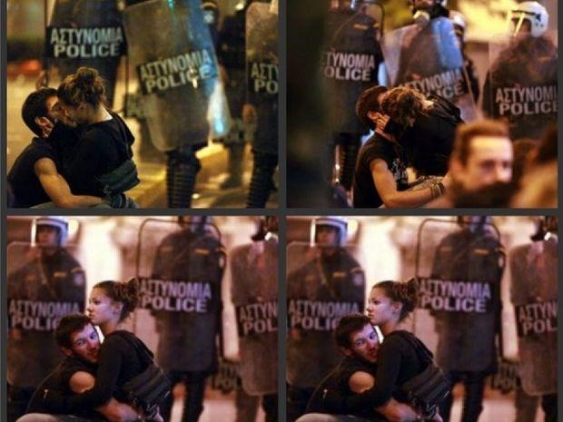 Τα παθιασμένα φιλιά μπροστά στα ΜΑT «πρώτο θέμα» στο Facebook (pics)