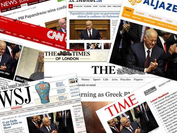 Η ελληνική κρίση στα πρωτοσέλιδα του κόσμου