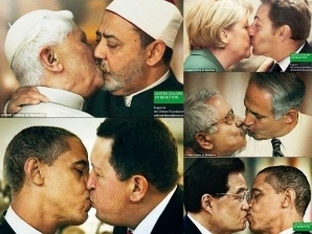 Τα φιλιά της Benetton προκάλεσαν θύελλα (pics)