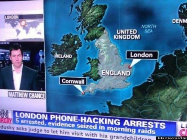 Απίστευτο κι όμως αληθινό: Το CNN δεν ξέρει που είναι το Λονδίνο!