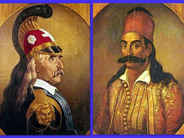 Άστρα και Ήρωες: Λασκαρίνα Μπουμπουλίνα, Θεόδωρος Κολοκοτρώνης