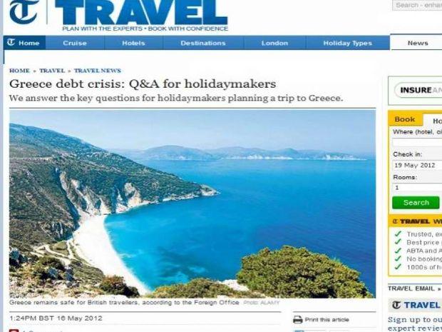 Ελληνική κρίση και τουρισμός: Οδηγίες της Telegraph προς ταξιδιώτες!