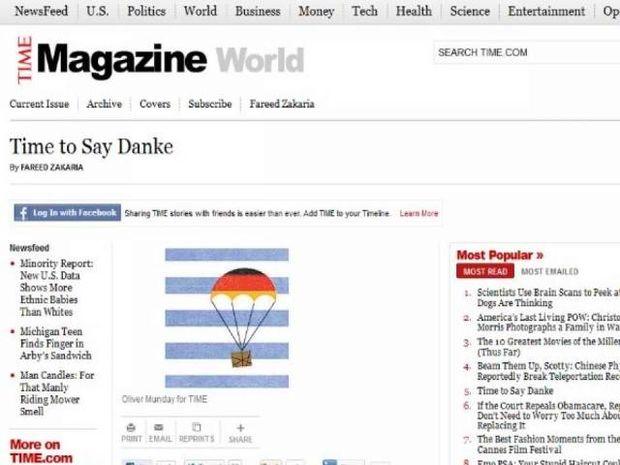 Ήρθε η ώρα οι Έλληνες να πουν και «danke» στους Γερμανούς, λέει το Time!