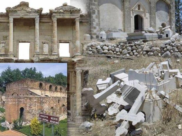 Συνεχίζεται η ασέβεια των Τούρκων στα χριστιανικά μνημεία!