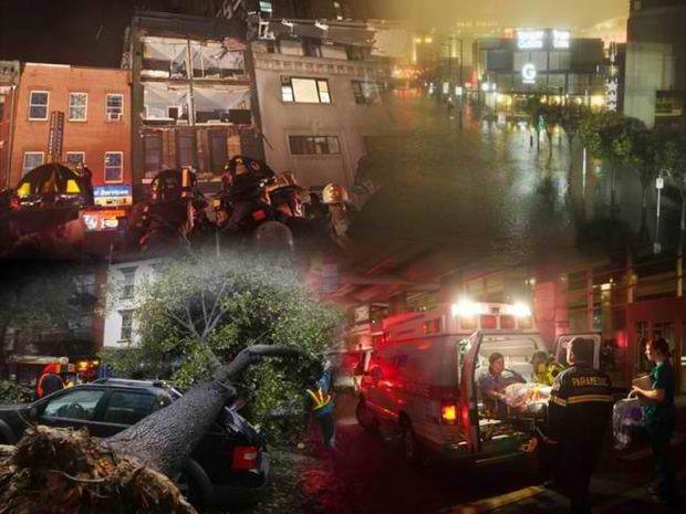 Χάος και καταστροφή από τον τυφώνα Σάντι