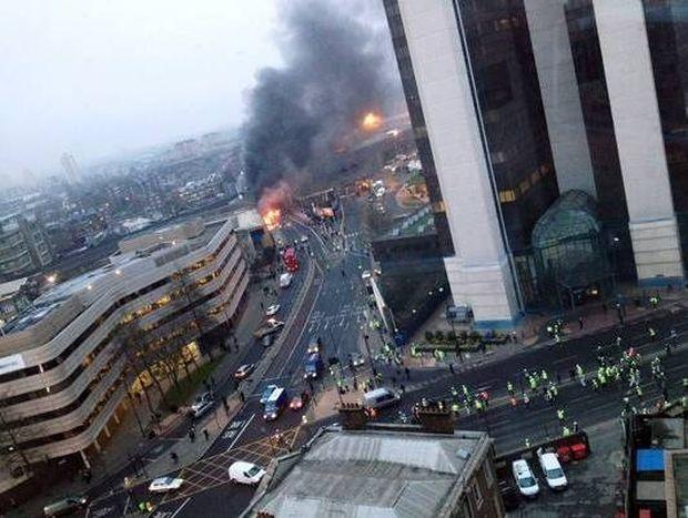 Τι έριξε το ελικόπτερο στο Λονδίνο;