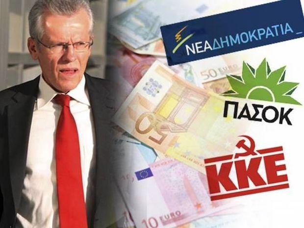 Ο Πεπόνης καλεί ΝΔ, ΠΑΣΟΚ και ΚΚΕ για τη δανειοδότηση των κομμάτων
