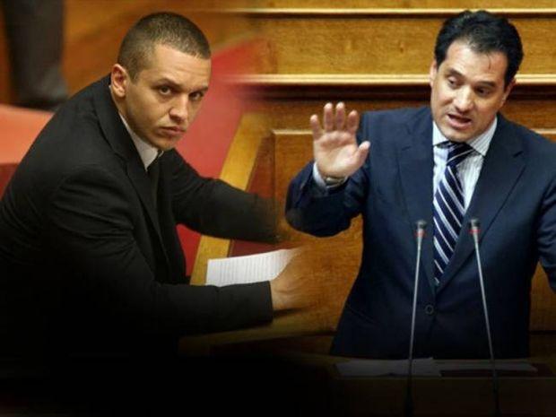 Χαμός στη Βουλή - Κασιδιάρης σε Άδωνι: «Είσαι τρελός»