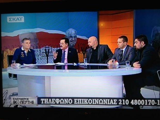 To tweet του Χατζηνικολάου για την εκπομπή Τράγκα με τους Χρυσαυγίτες