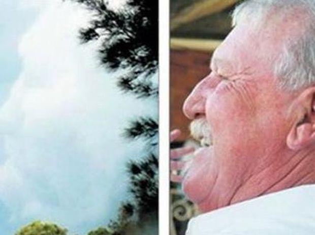 ΔΕΙΤΕ: Πριν πεθάνει το πρόσωπό του εμφανίστηκε στα σύννεφα