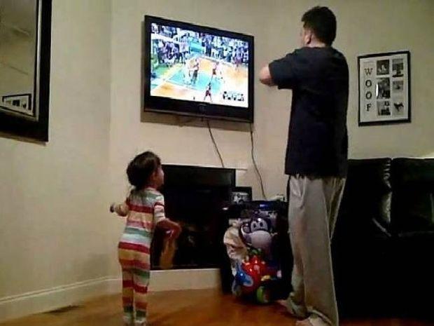 Γιατί δεν πρέπει να βλέπεις ματς με την μικρή σου κόρη!