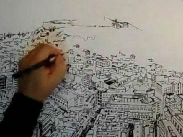 Το βίντεο που σαρώνει: Ζωγραφίζοντας την Αθήνα σε 2 λεπτά!