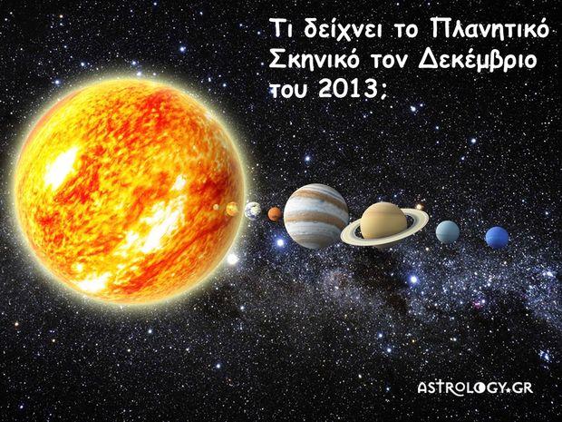 Πλανητικό σκηνικό Δεκεμβρίου 2013