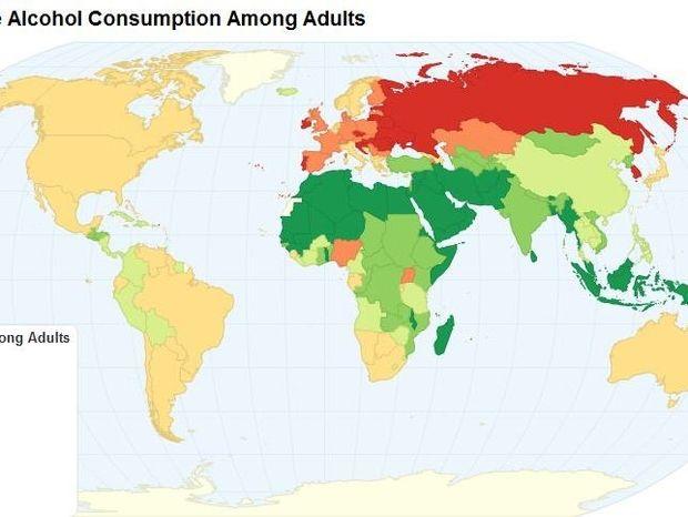 Ο χάρτης του αλκοόλ στον πλανήτη - Ποια η θέση της Ελλάδας
