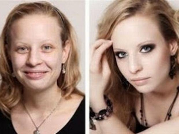 Απίστευτες εικόνες πριν και μετά το μακιγιάζ!