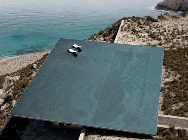 ΜΟΝΑΔΙΚΕΣ ΕΙΚΟΝΕΣ: H πιο εντυπωσιακή πισίνα του Αιγαίου!
