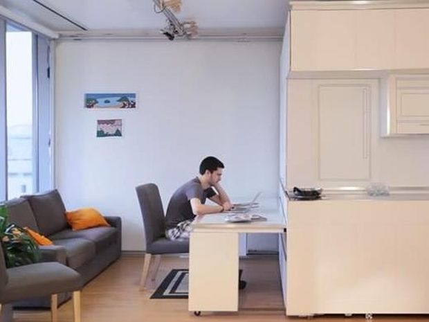 Το διαμέρισμα του μέλλοντος θα τα έχει όλα σε 18 τ.μ. (βίντεο)