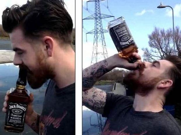 Βρετανός ήπιε «άσπρο πάτο» ένα ολόκληρο μπουκάλι ουίσκι! (video)