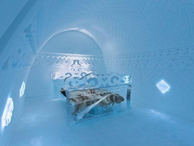 Το πιο ξεχωριστό ξενοδοχείο του κόσμου χτίζεται στις αρχές του χειμώνα και κάθε άνοιξη λιώνει!