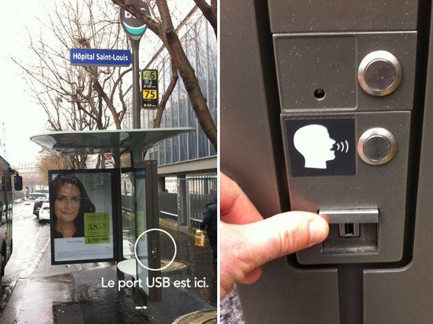 Στο Παρίσι μπορείτε να φορτίσετε το κινητό σας σε μια στάση λεωφορείου