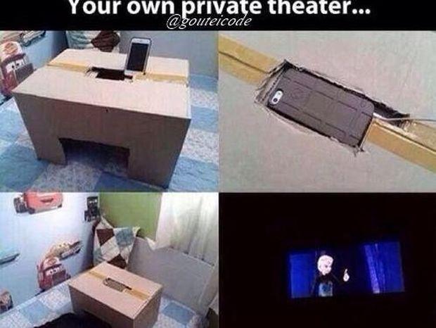Δείτε πως μπορείτε να χτίσετε ένα ιδιωτικό σινεμά με χαμηλό προϋπολογισμό (εικόνες - βίντεο)