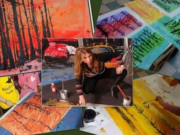 Τα παιδιά ξανα-ζωγραφίζουν τα «Δένδρα» της Μίνας Παπαθεοδώρου – Βαλυράκη!