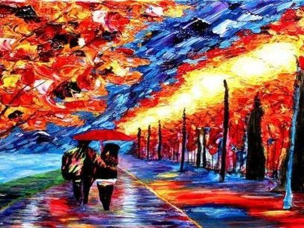 Τα απίστευτα χρωματισμένα έργα ενός τυφλού ζωγράφου (photos)