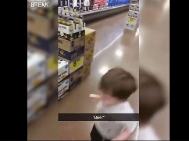 Ο μικρούλης τρελαίνεται για μπύρα! (video)