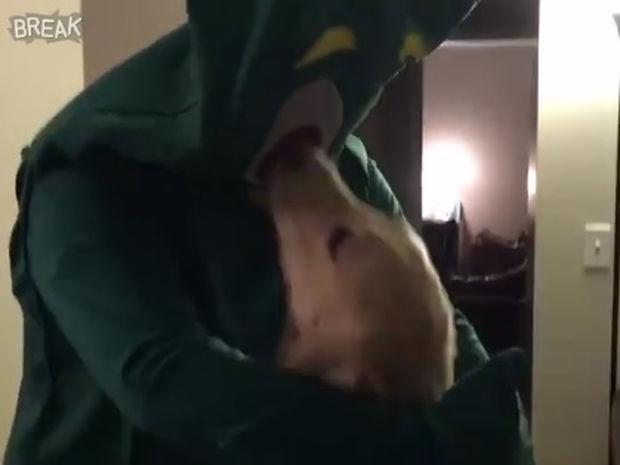 Μεταμφιέστηκε στο αγαπημένο παιχνίδι του σκύλου του και του έφτιαξε τη μέρα! (video)