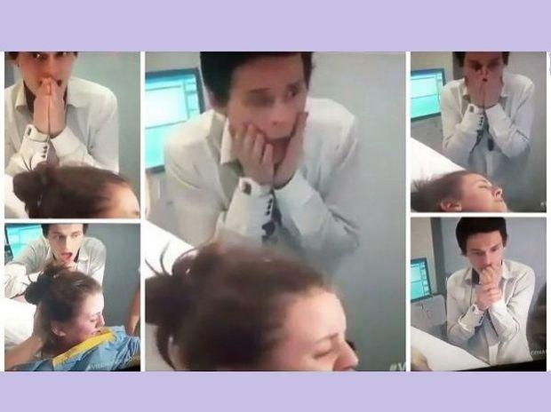 Το βίντεο με την έκφραση του μπαμπά τη στιγμή που γεννάει η σύζυγός του έγινε viral!