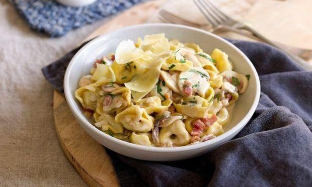 Τορτελίνια καρμπονάρα: Υπέροχο twist στην κλασική συνταγή