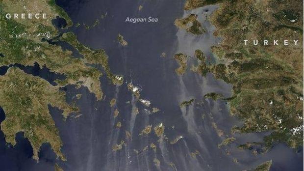 Φαινόμενο Sunglint: Δείτε τι κατέγραψε ο φακός της NASA πάνω από την Ελλάδα