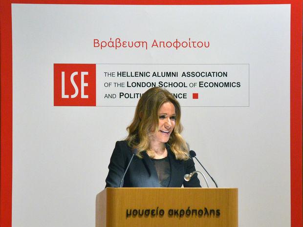 Ο Ελληνικός Σύλλογος αποφοίτων του LSE βραβεύει την κα Μαριάννα Λάτση