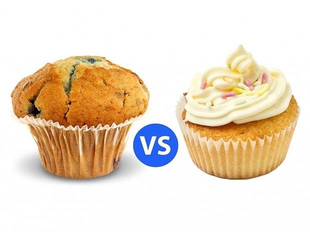 Η διαφορά μεταξύ muffins και cupcakes