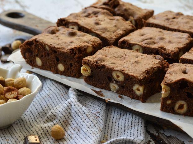 Brownies με φουντούκι