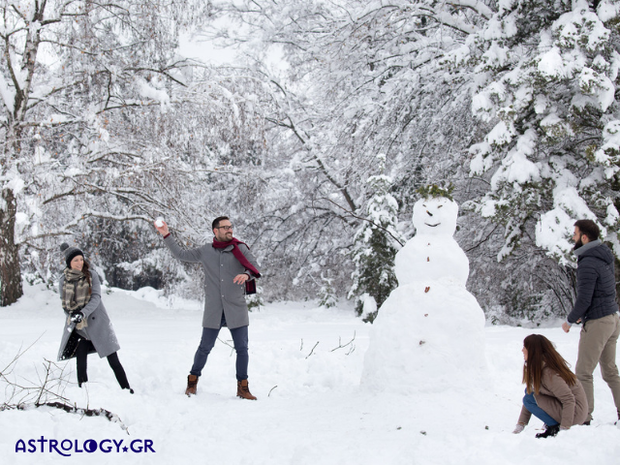 Τα ζώδια παίζουν χιονοπόλεμο!