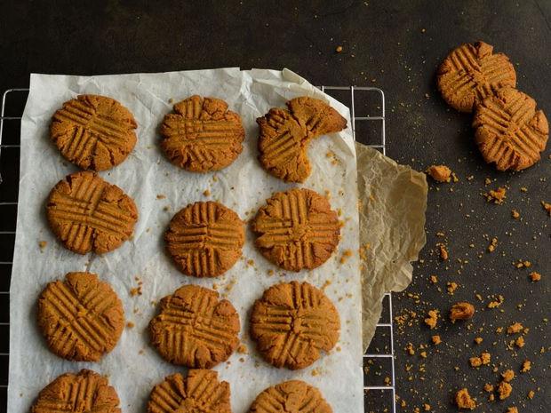 Μπισκότα με φυστικοβούτυρο