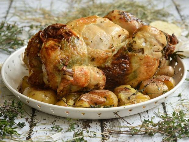Κοτόπουλο γεμιστό με τυριά