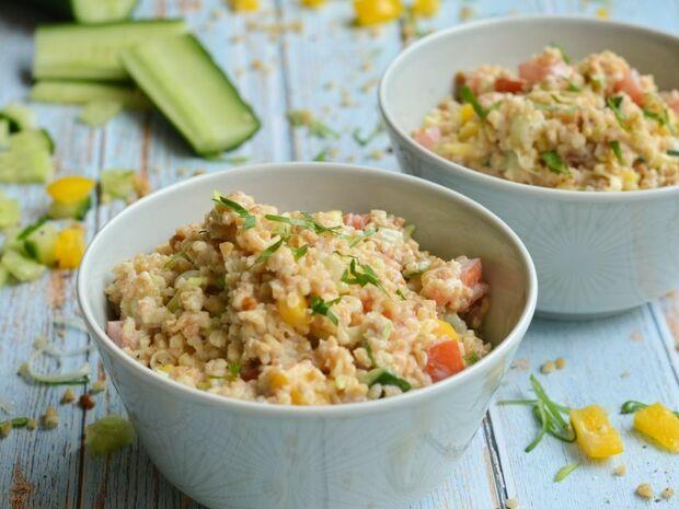 Σαλάτα με πλιγούρι & γλυκόξινο dressing γιαουρτιού