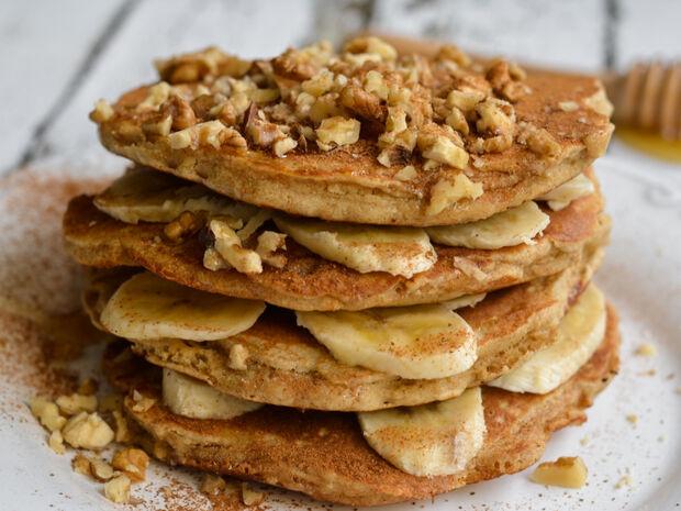 Pancakes με αλεύρι βρώμης