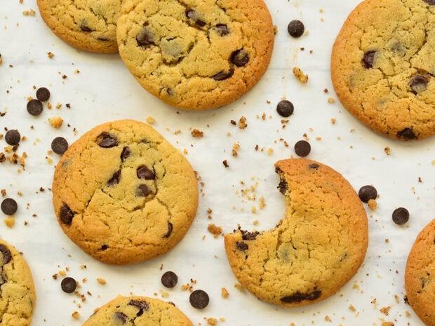 Μπισκότα βανίλιας με σοκολάτα